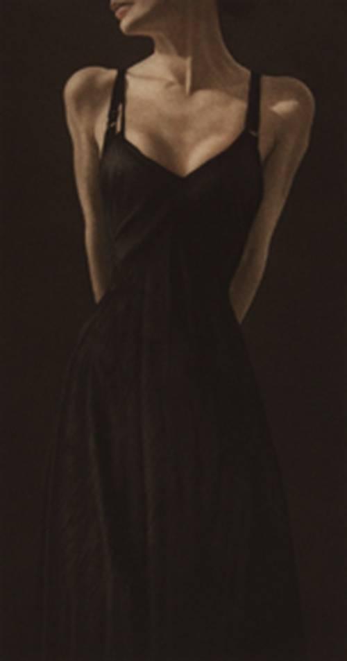 Dame in schwarz